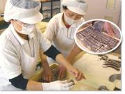 市田柿ゆべし餅の製造